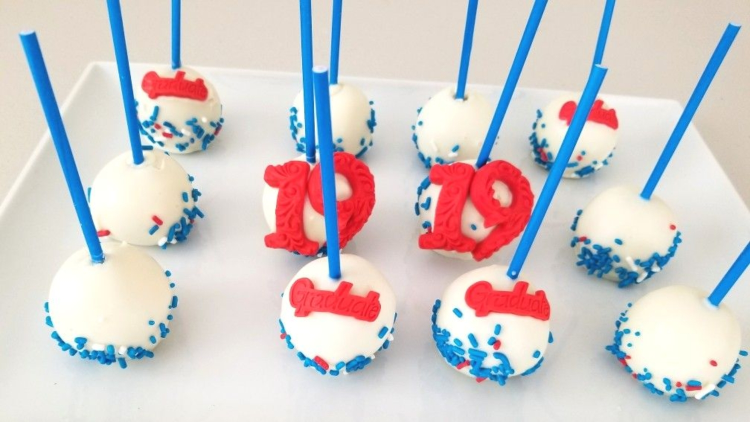 Football and Graduation Cake Pops