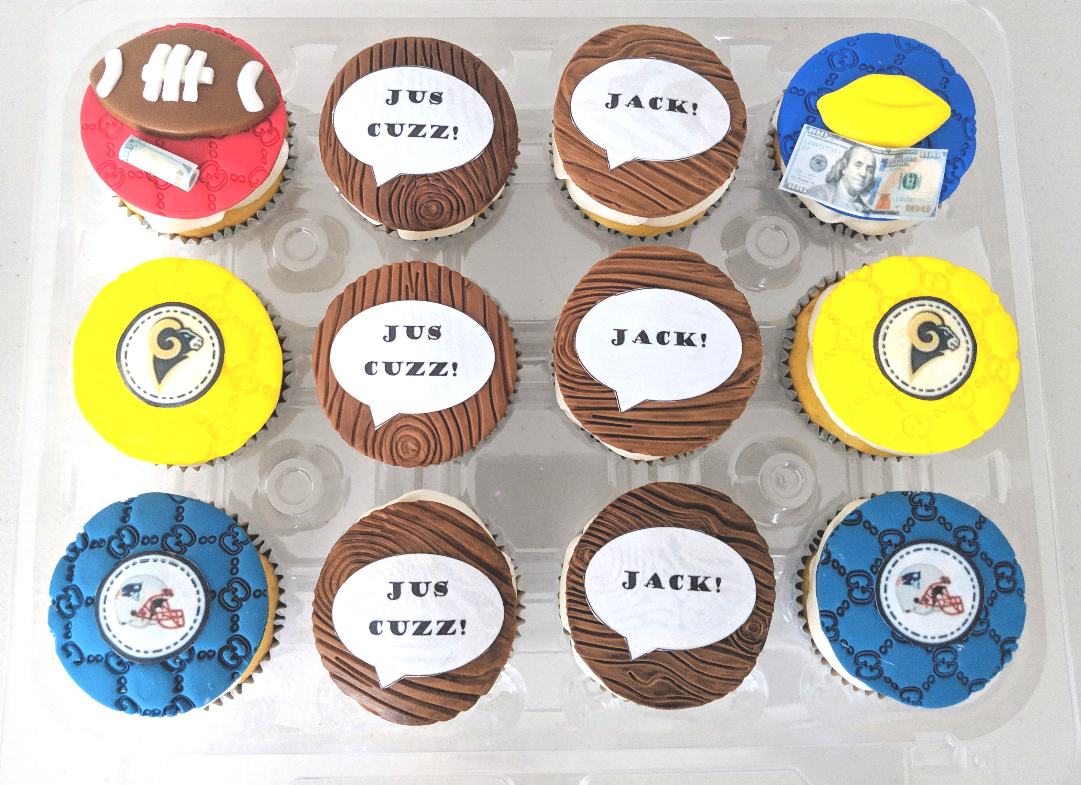 Super Bowl VIII Cupcakes