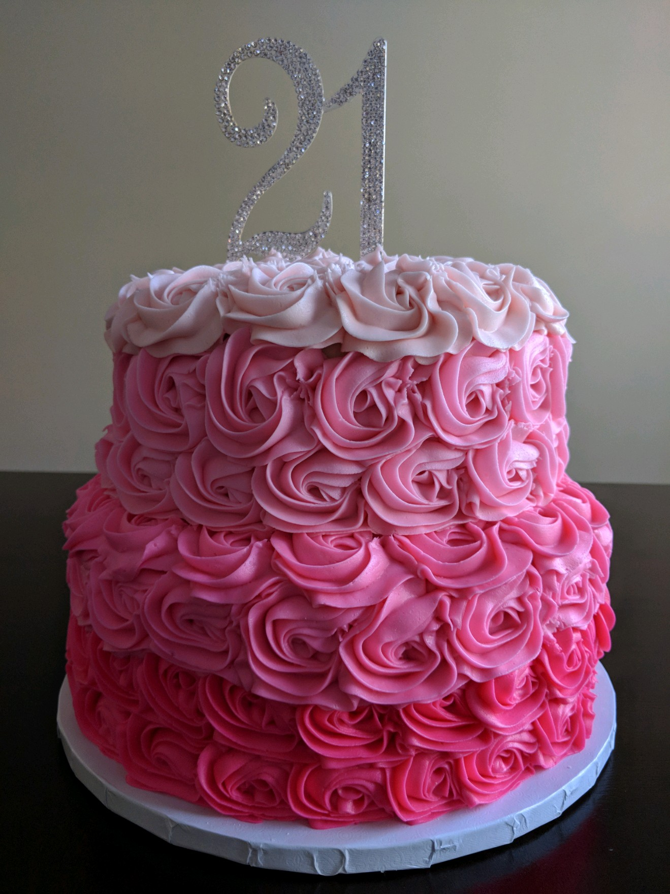Tiered Rosette Cake