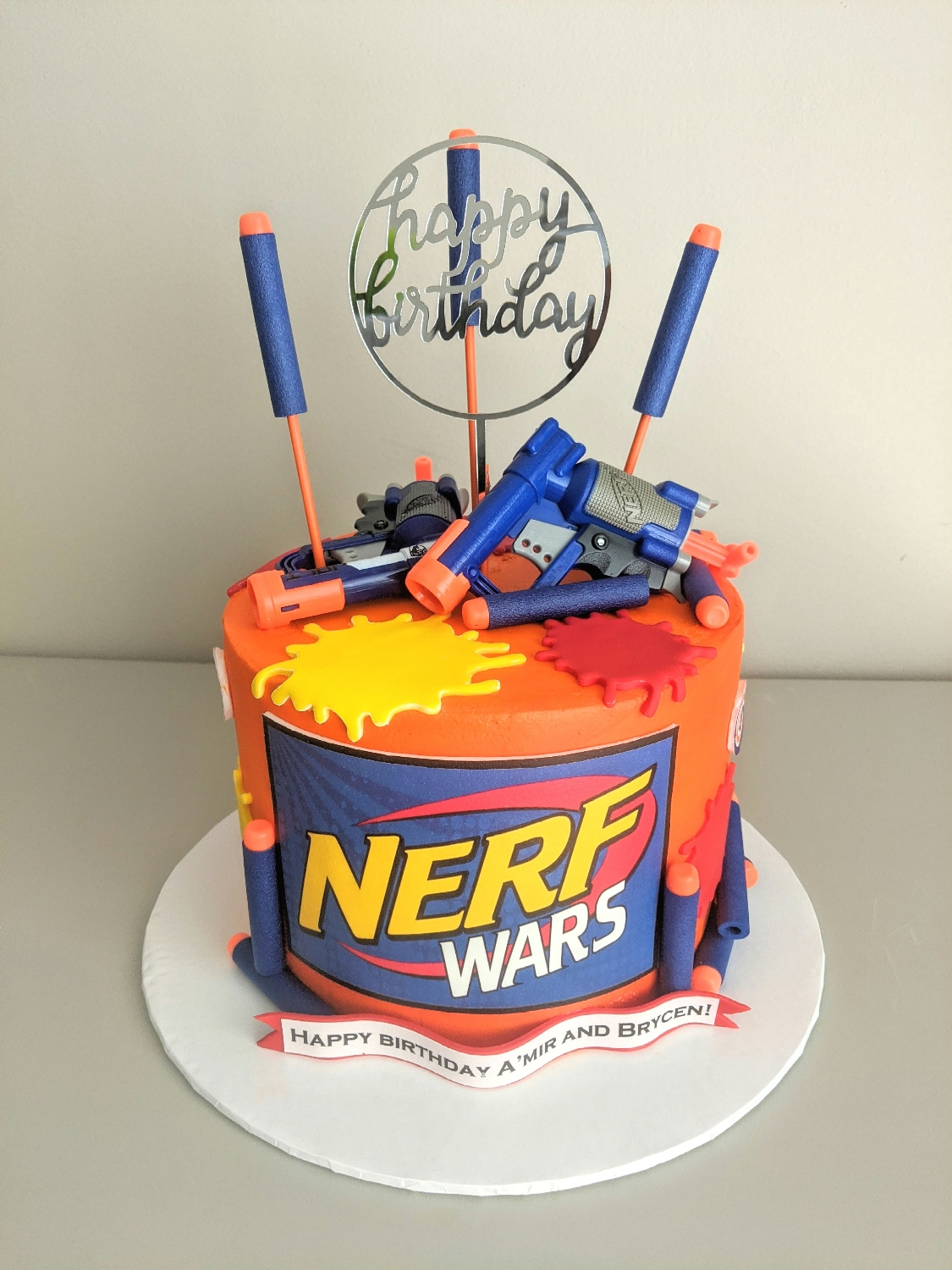 NERF Birthday Cake