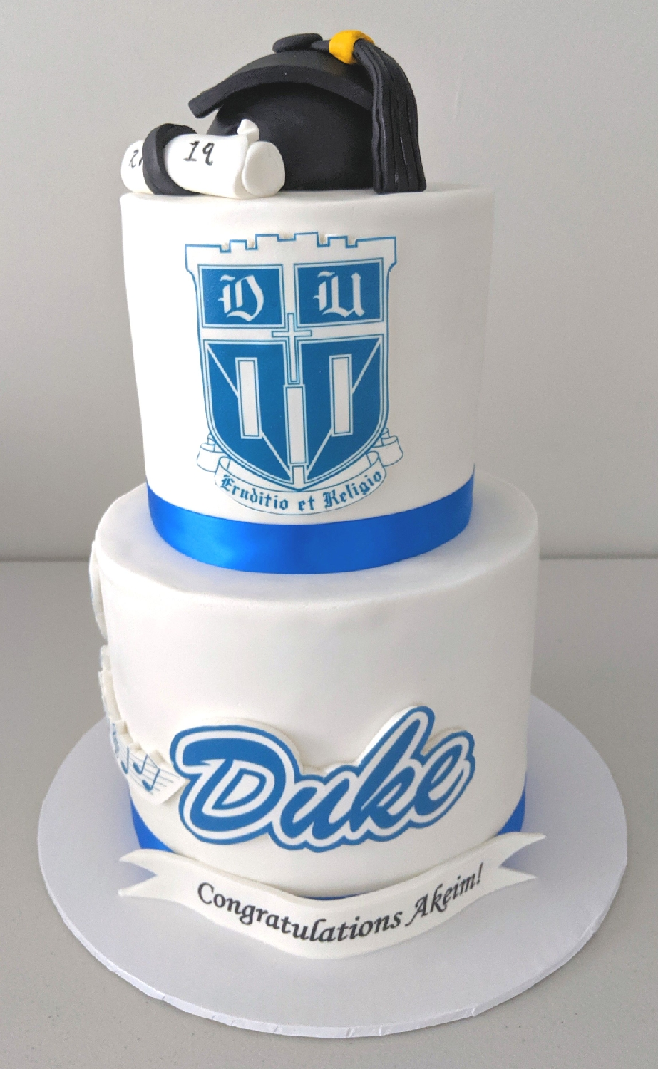 Duke University Graduation Cake