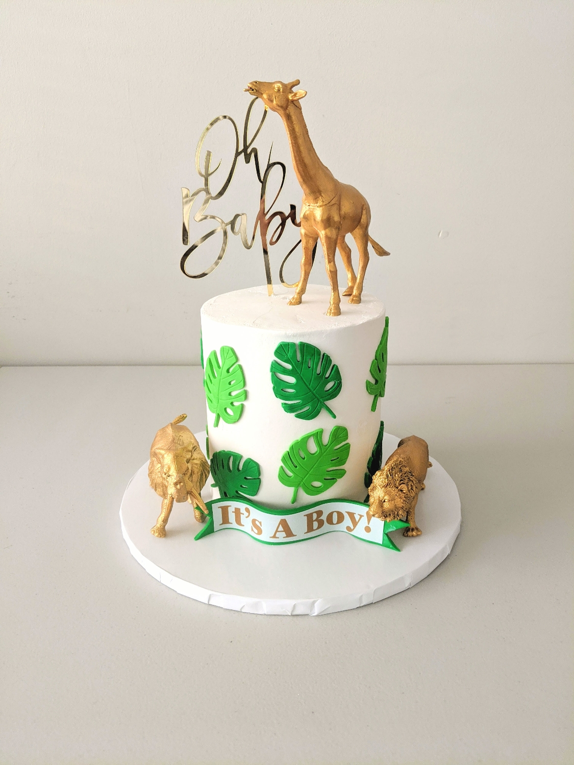 Safari Baby Shower Barrel Cake