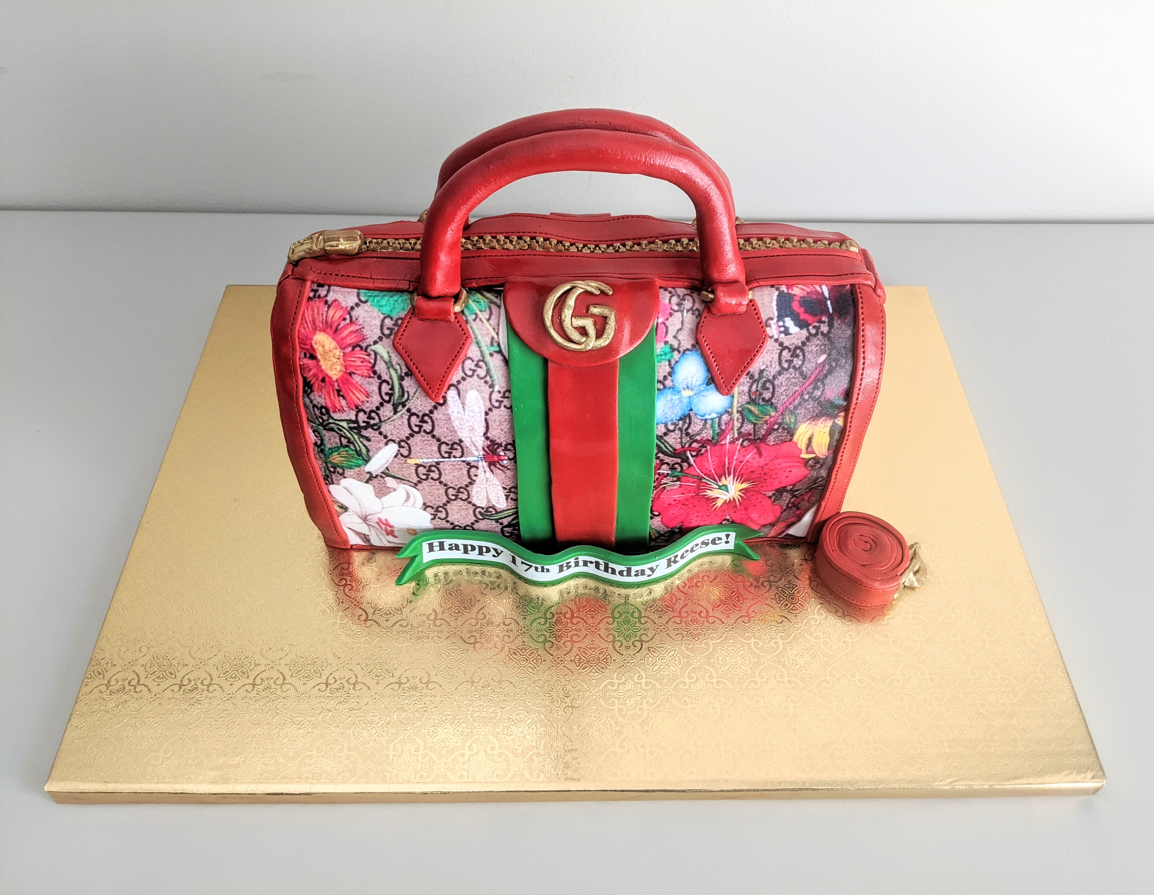 Gucci Floral Purse Cake