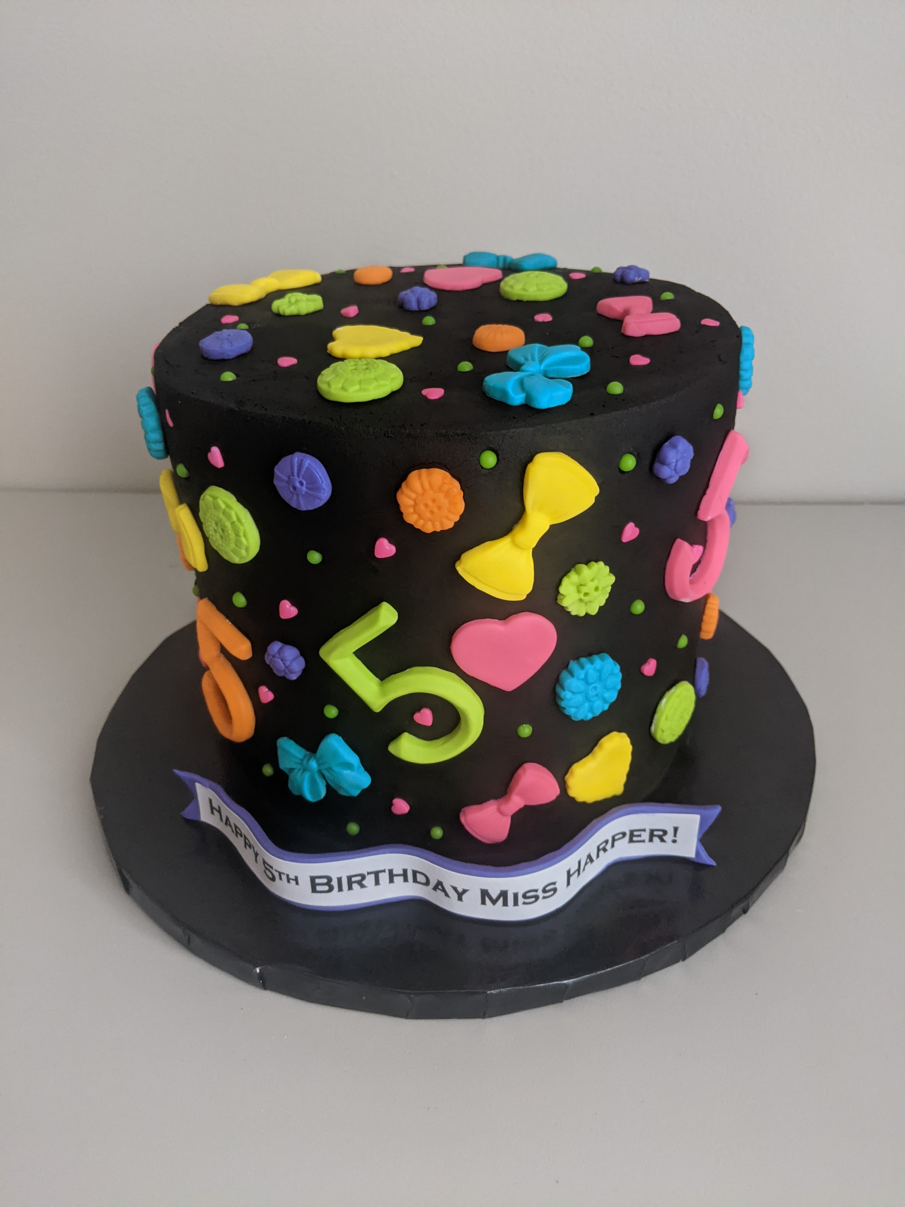 Neon Birthday Cake