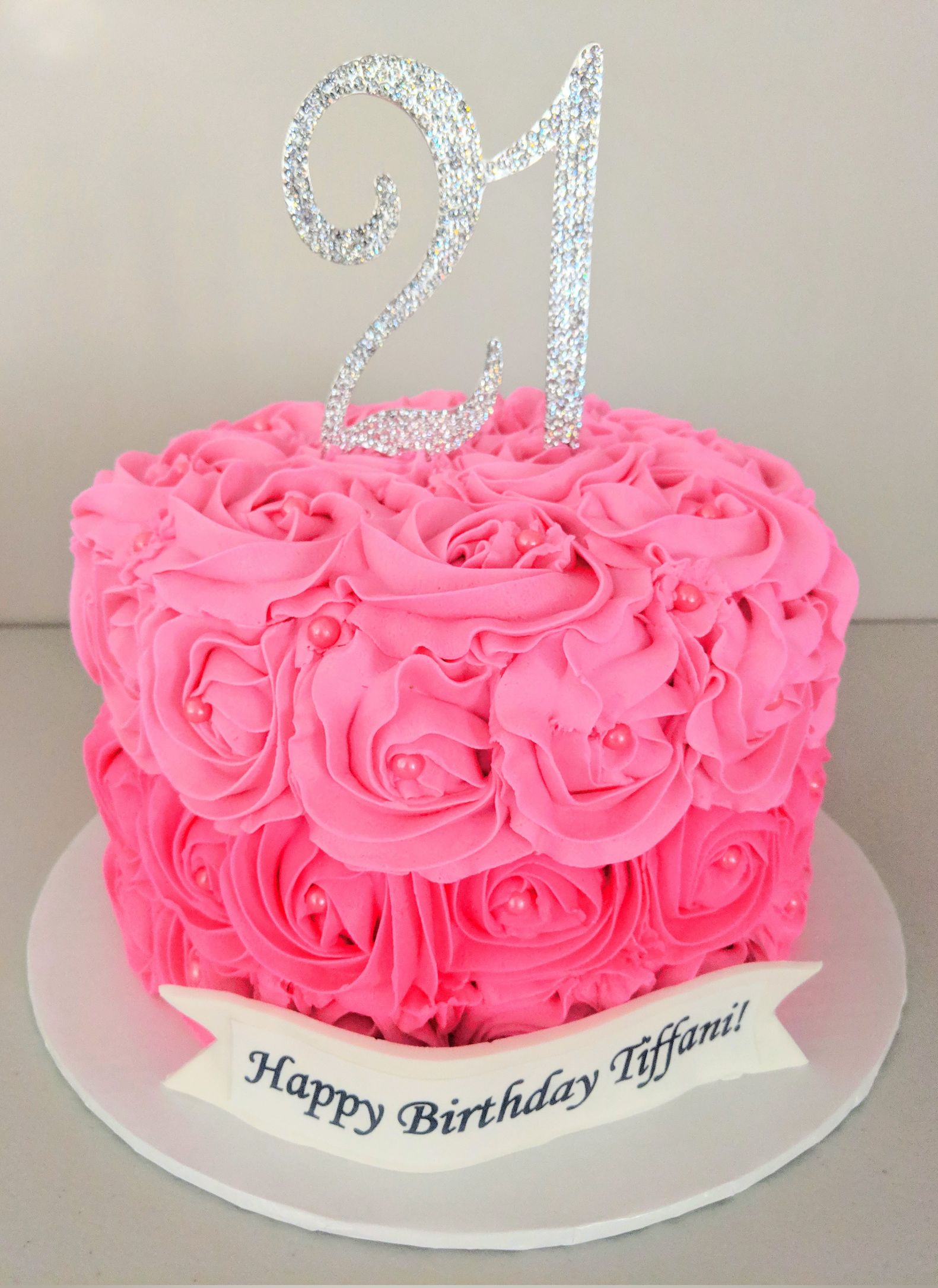 Shades of Pink Rosette Cake