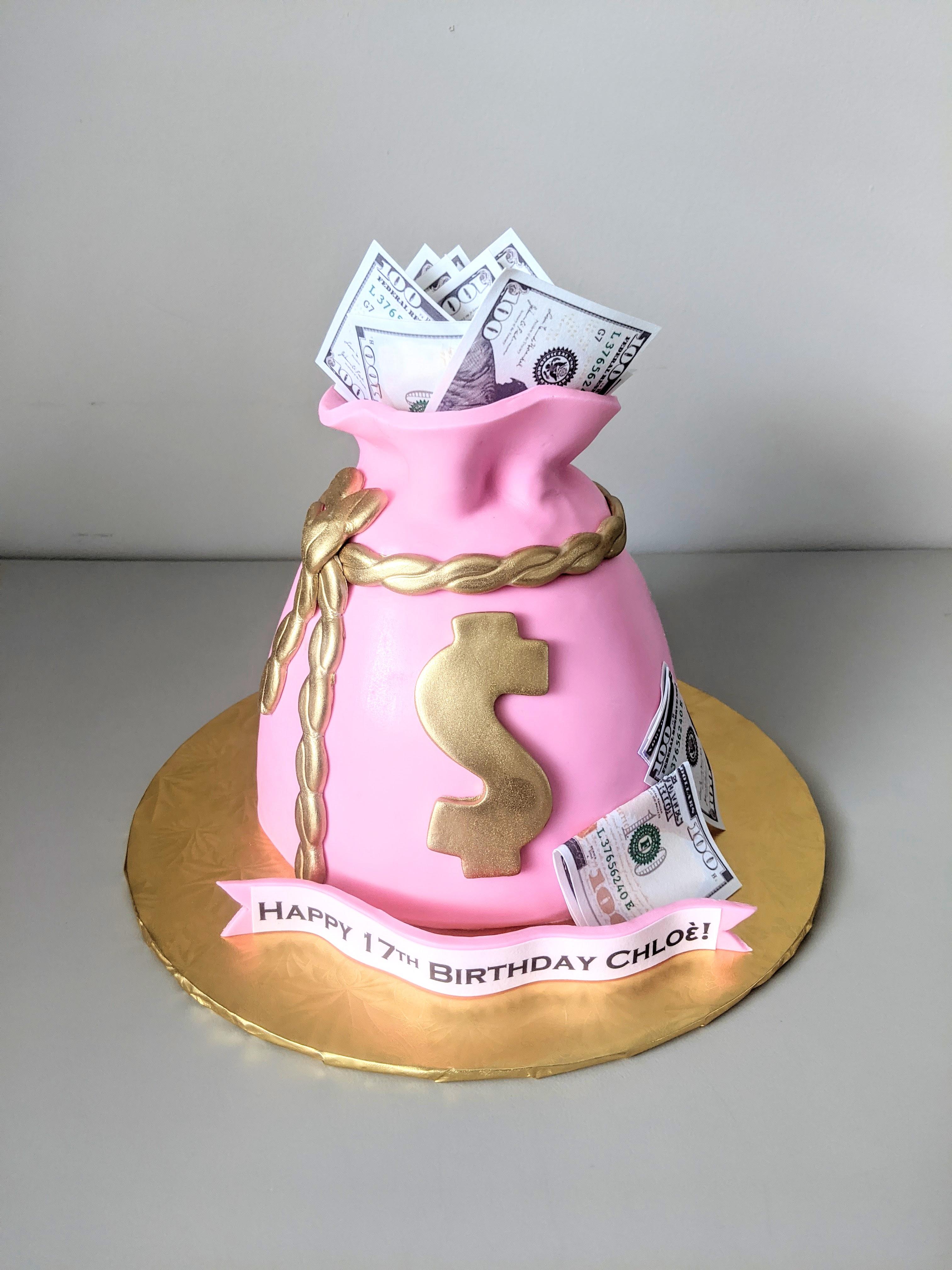 Money Bag Cake