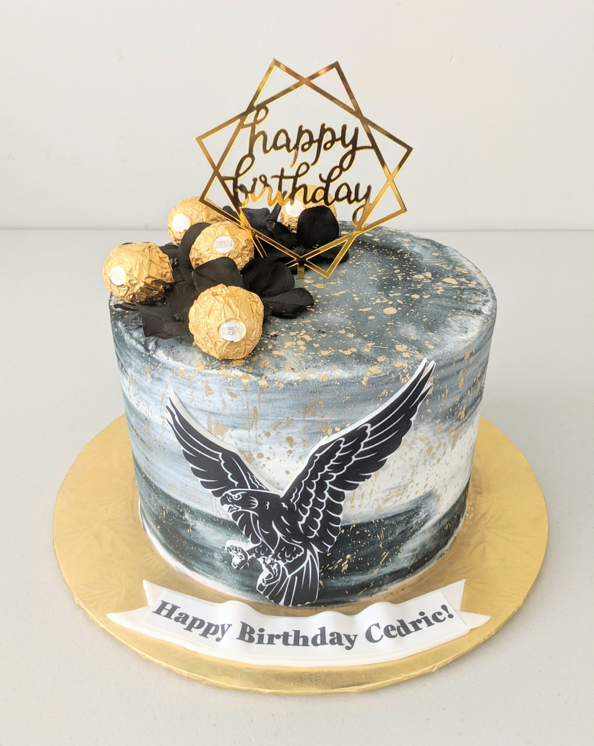 Hawk themed Birthday Cake