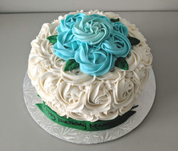 Rosette and Leaves Cake