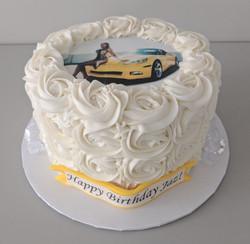 Birthday Selfie Rosette Cake