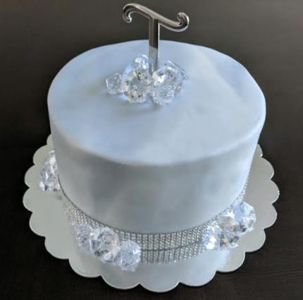 Marble Fondant Birthday Cake
