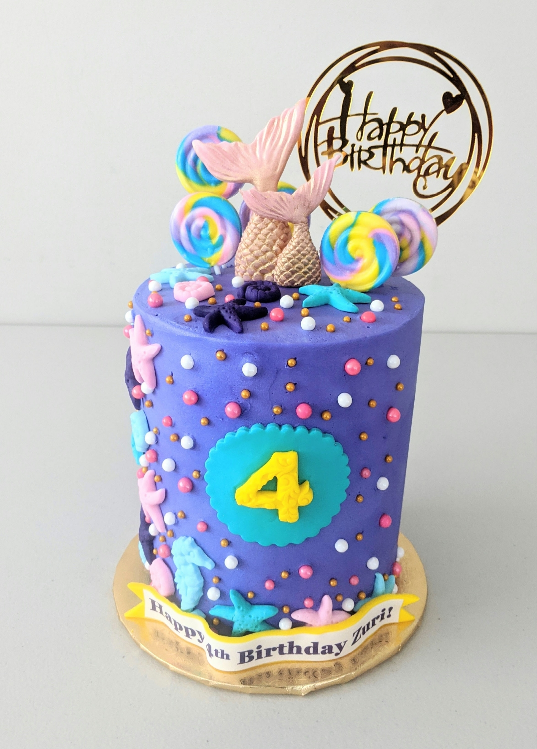 Princess Mermaid Barrel Cake