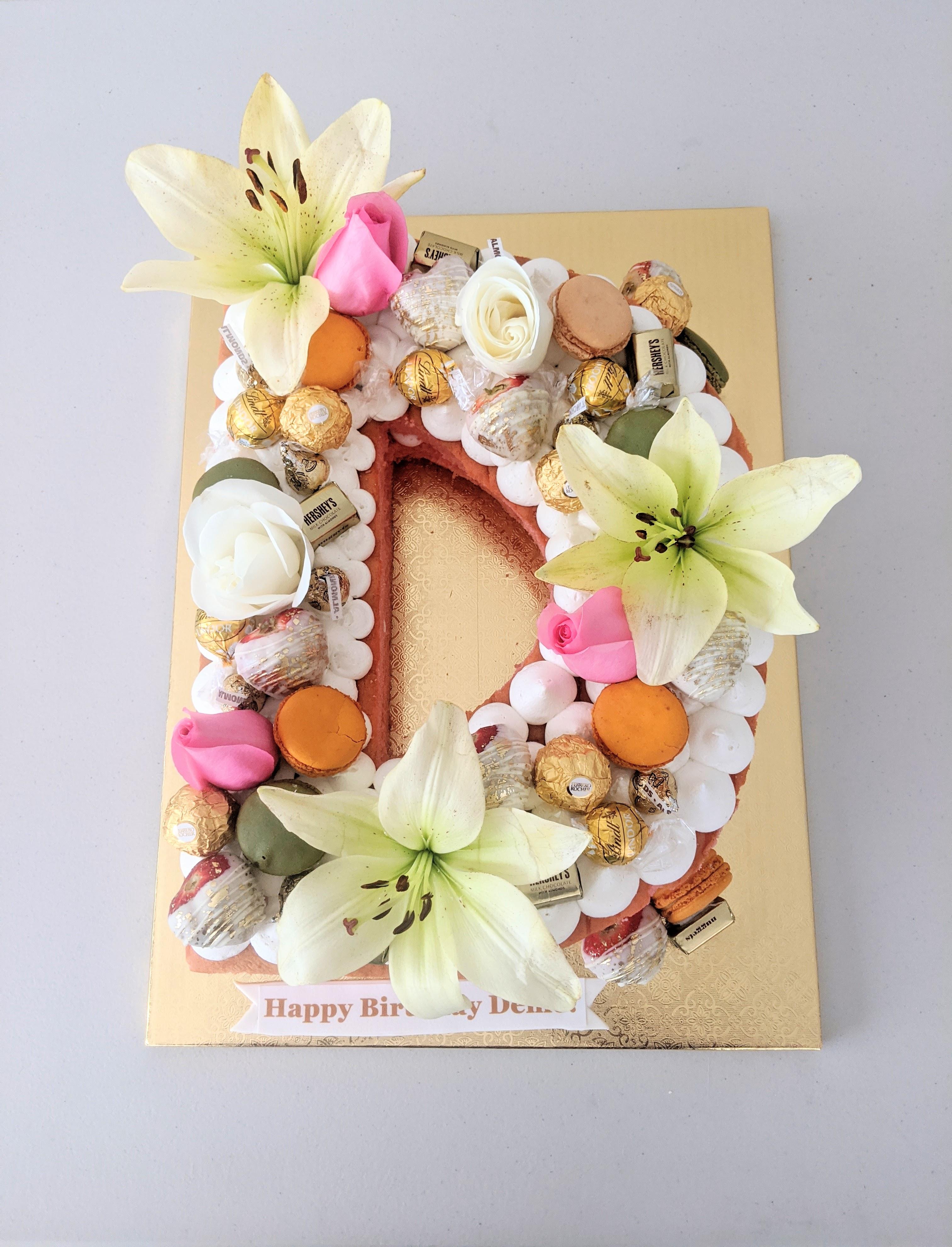 Letter D Cake
