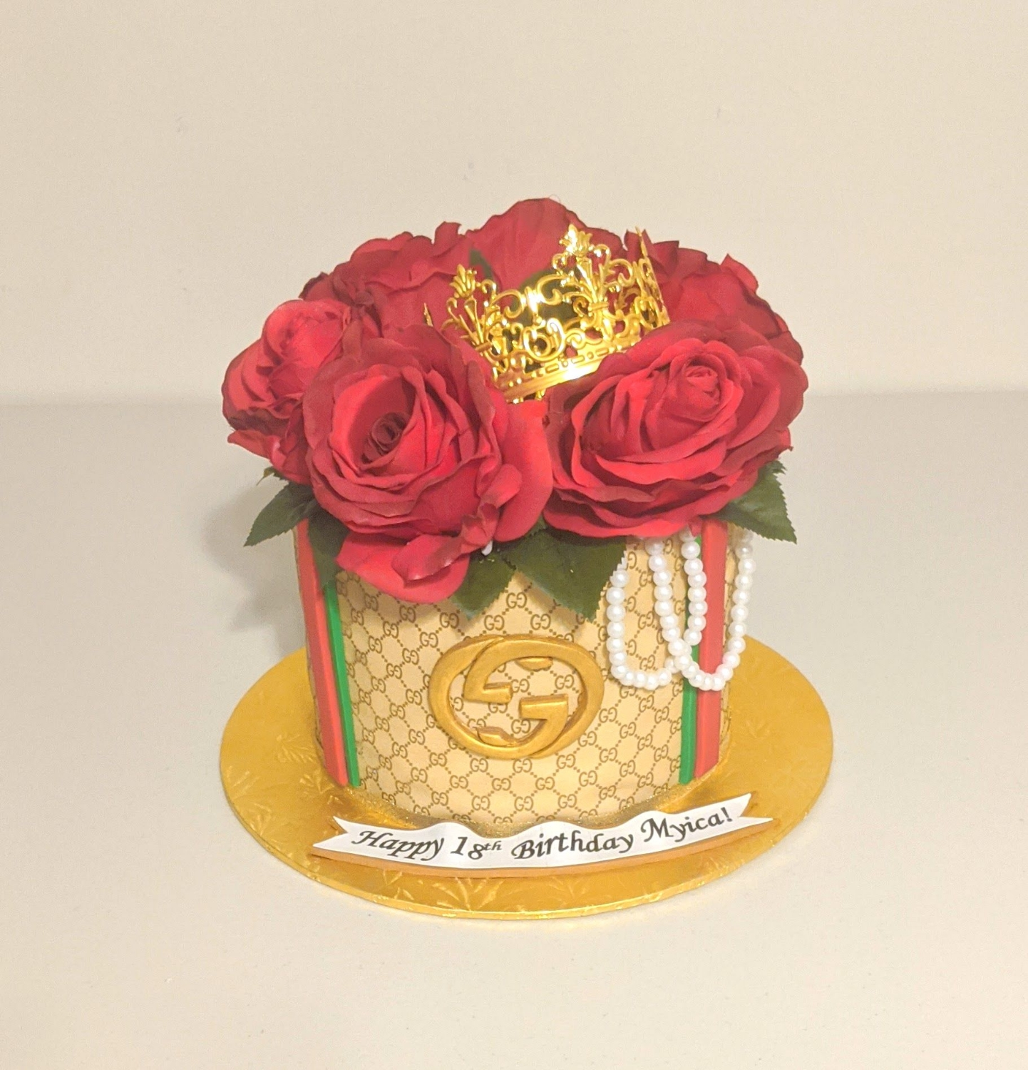 Gucci Bouquet Birthday Cake