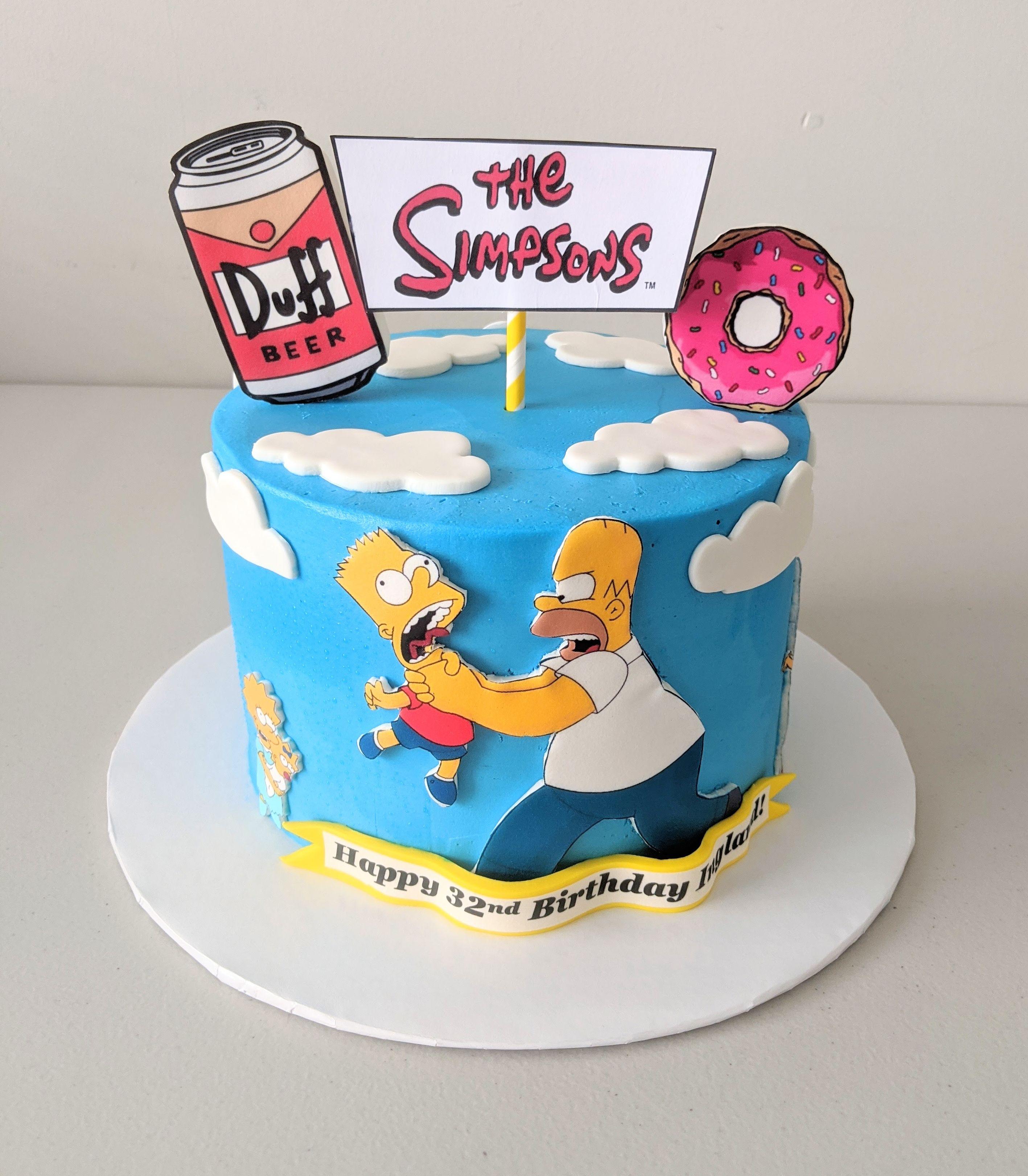 Homer and Bart Simpson Birthday Cake