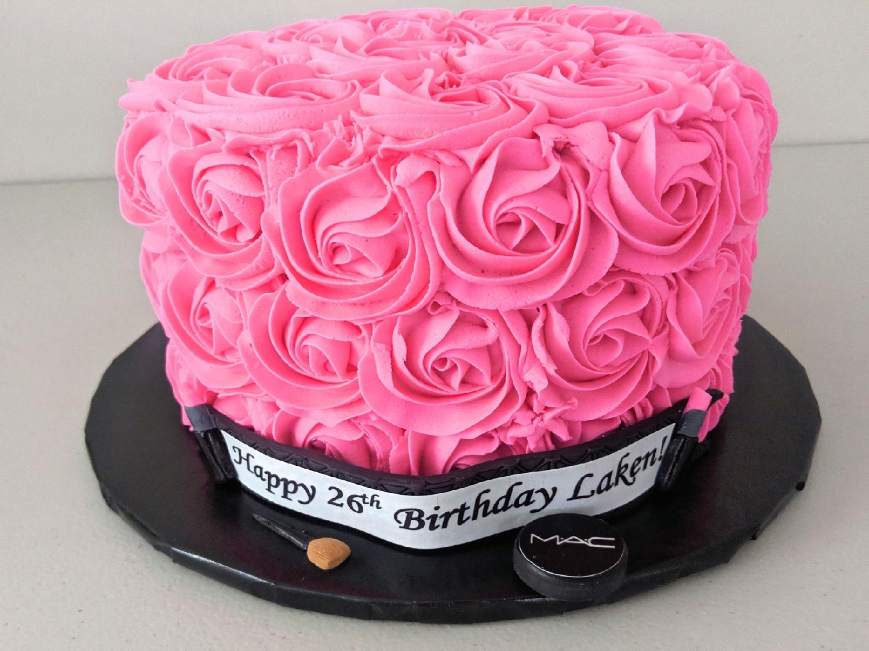MUA Rosette Birthday Cake