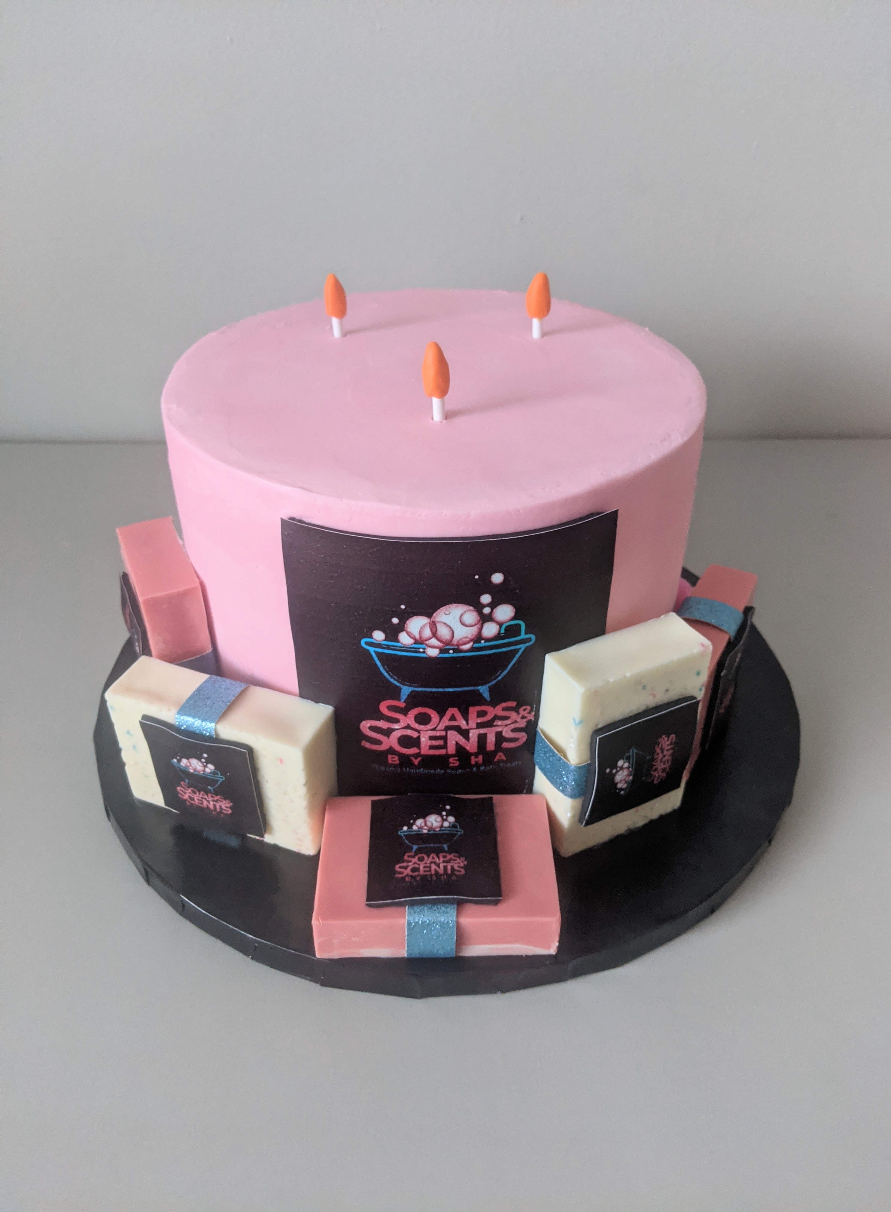Scents By Sha Logo Cake