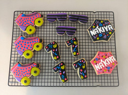 Neon, Sunglasses, & Skates Cookies