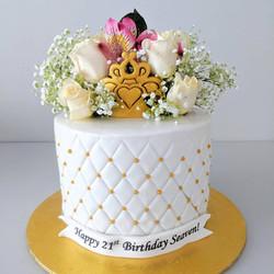 Floral Argyle Cake