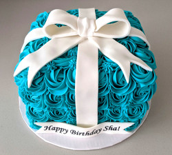 Tiffany & Co. Rosette Gift Box Cake
