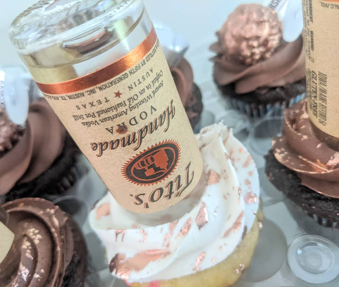Tito's Adult Beverage Cupcakes