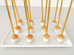 Traditional Cake Pops with Gold Sprinkles
