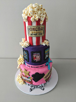 Movie Theme Birthday Cake