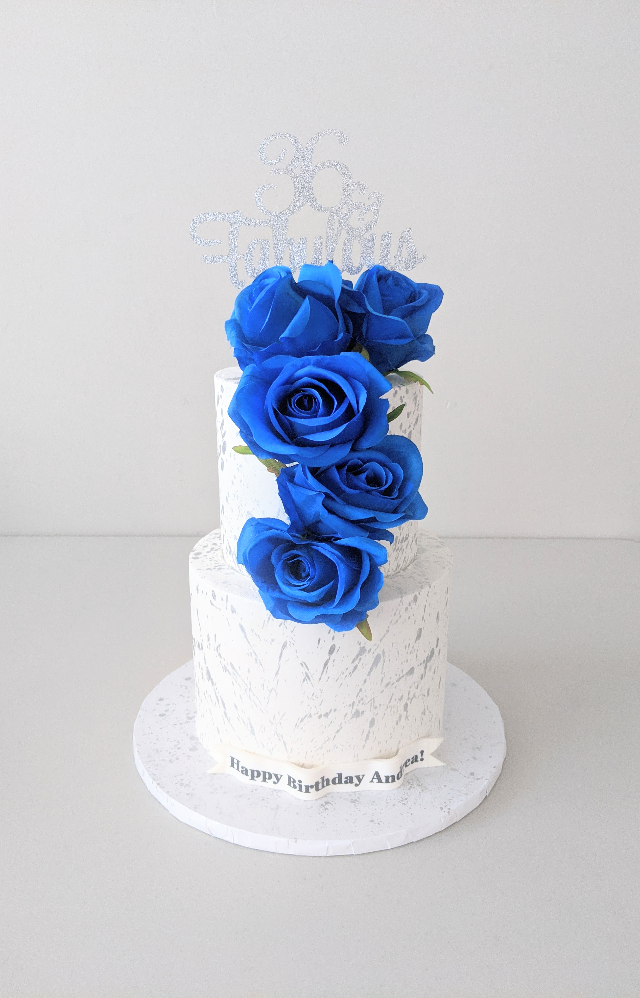 Blue Elegance Cake