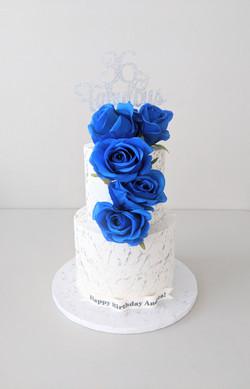 Blue Elegance Cake