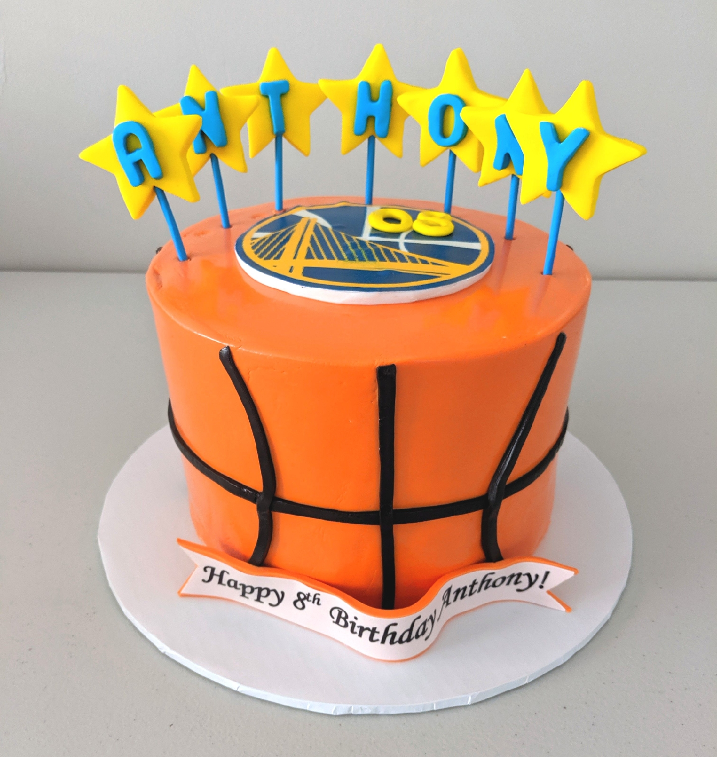 GS Warriors Birthday Cake