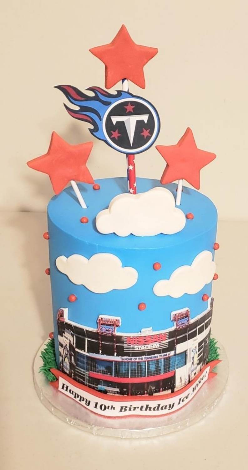 Tennessee Titans Nissan Stadium Barrel Cake