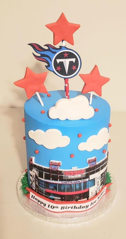 Tennessee Titans Nissan Stadium Barrel Cake