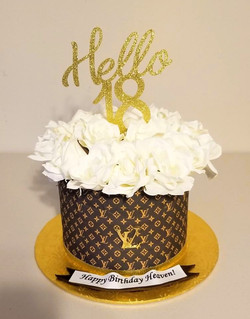 Louis Vuitton Bouquet Cake