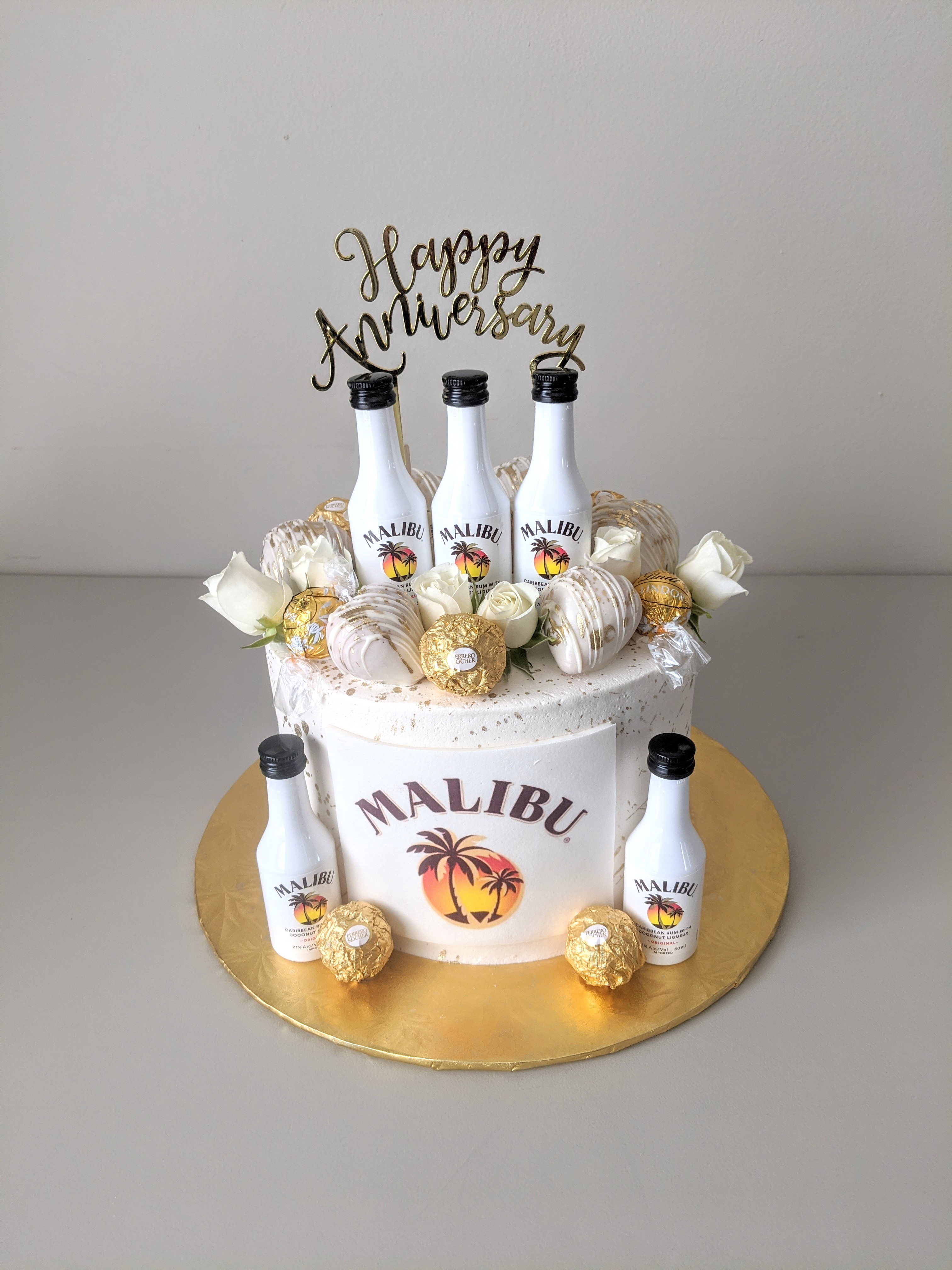 Malibu Rum Adult Beverage Cake