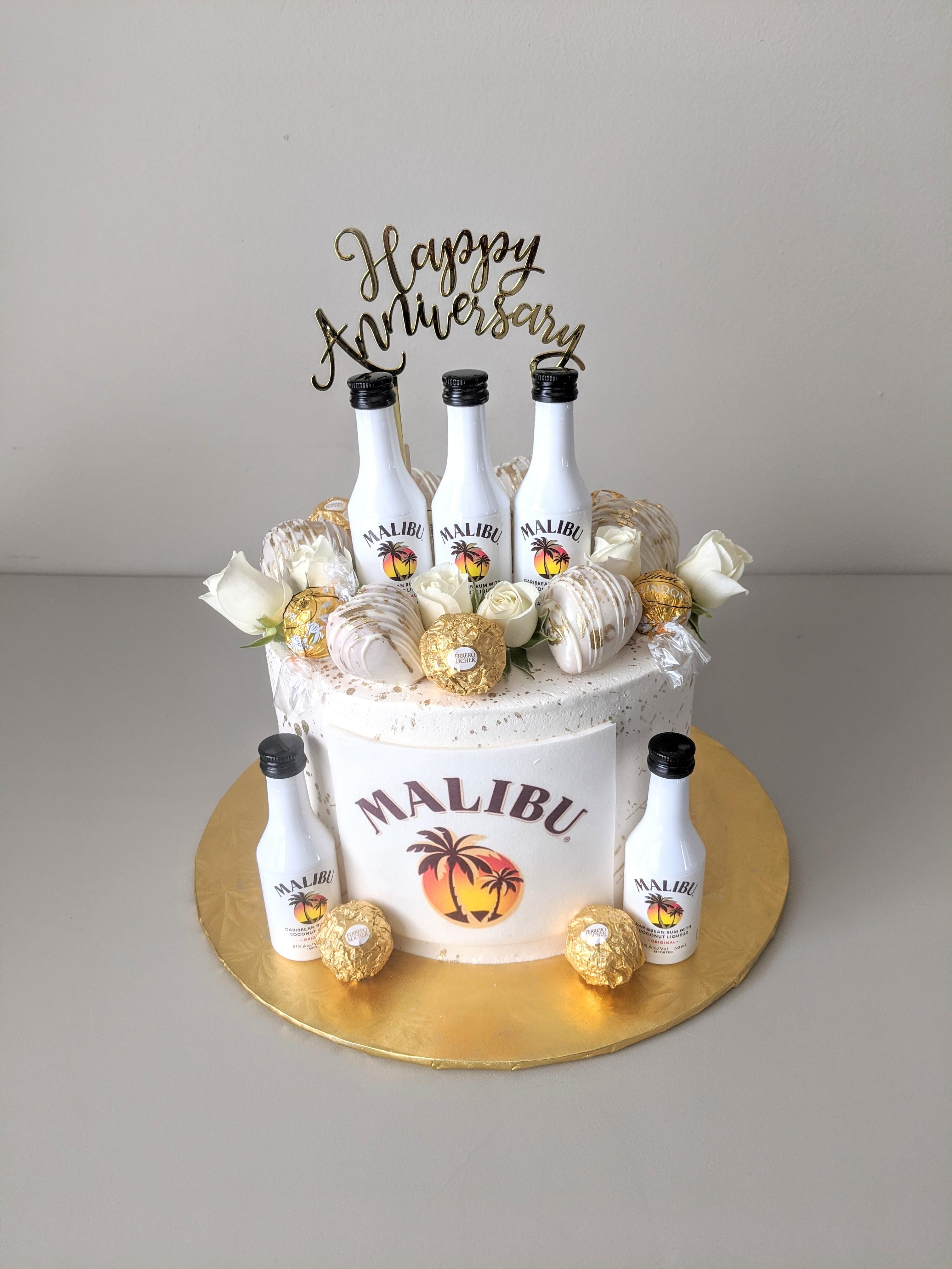 Malibu Rum Adult Beverage Cake