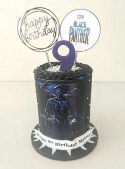 Black Panther Barrel Cake
