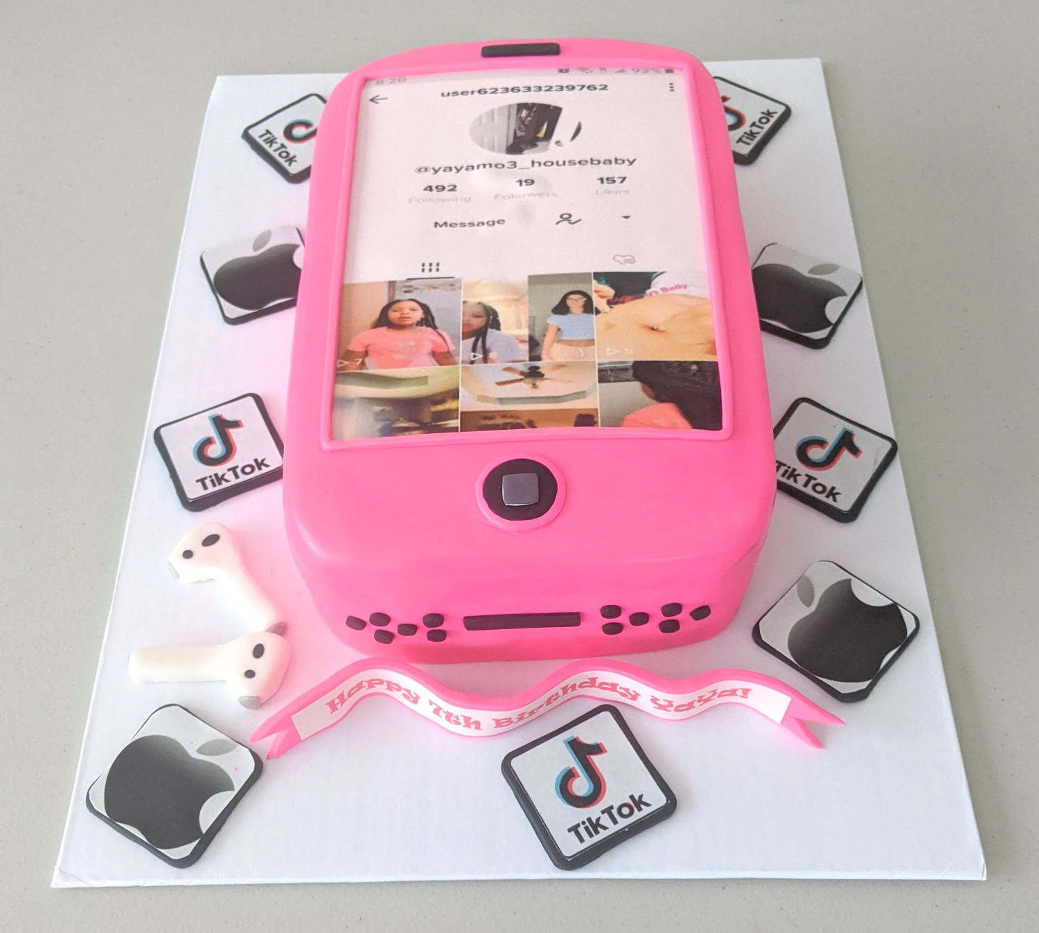 TikTok iPhone Birthday Cake