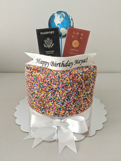 World Traveler Birthday Cake