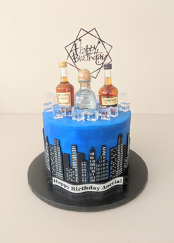 Nightlife Birthday Cake