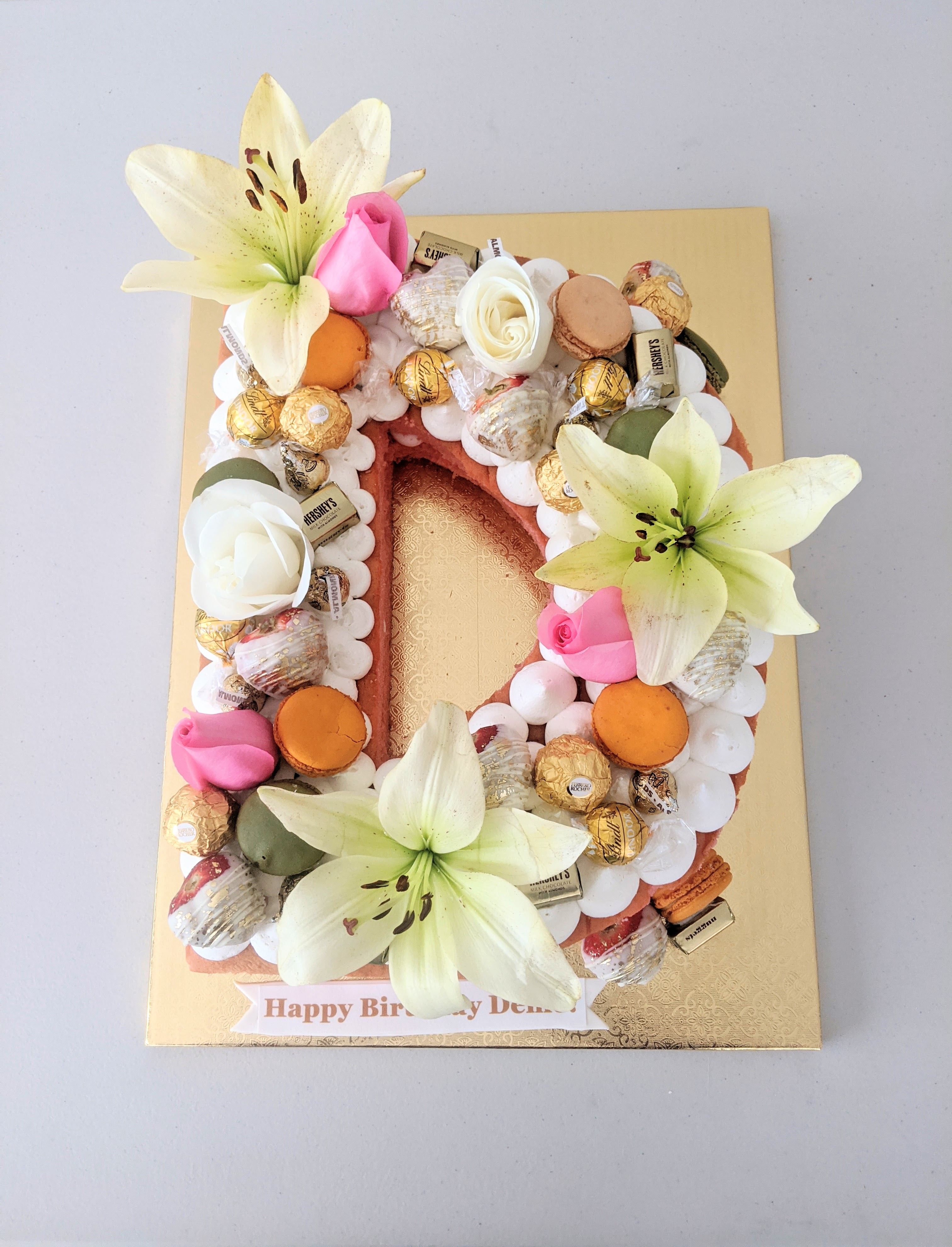 Letter D Birthday Cake