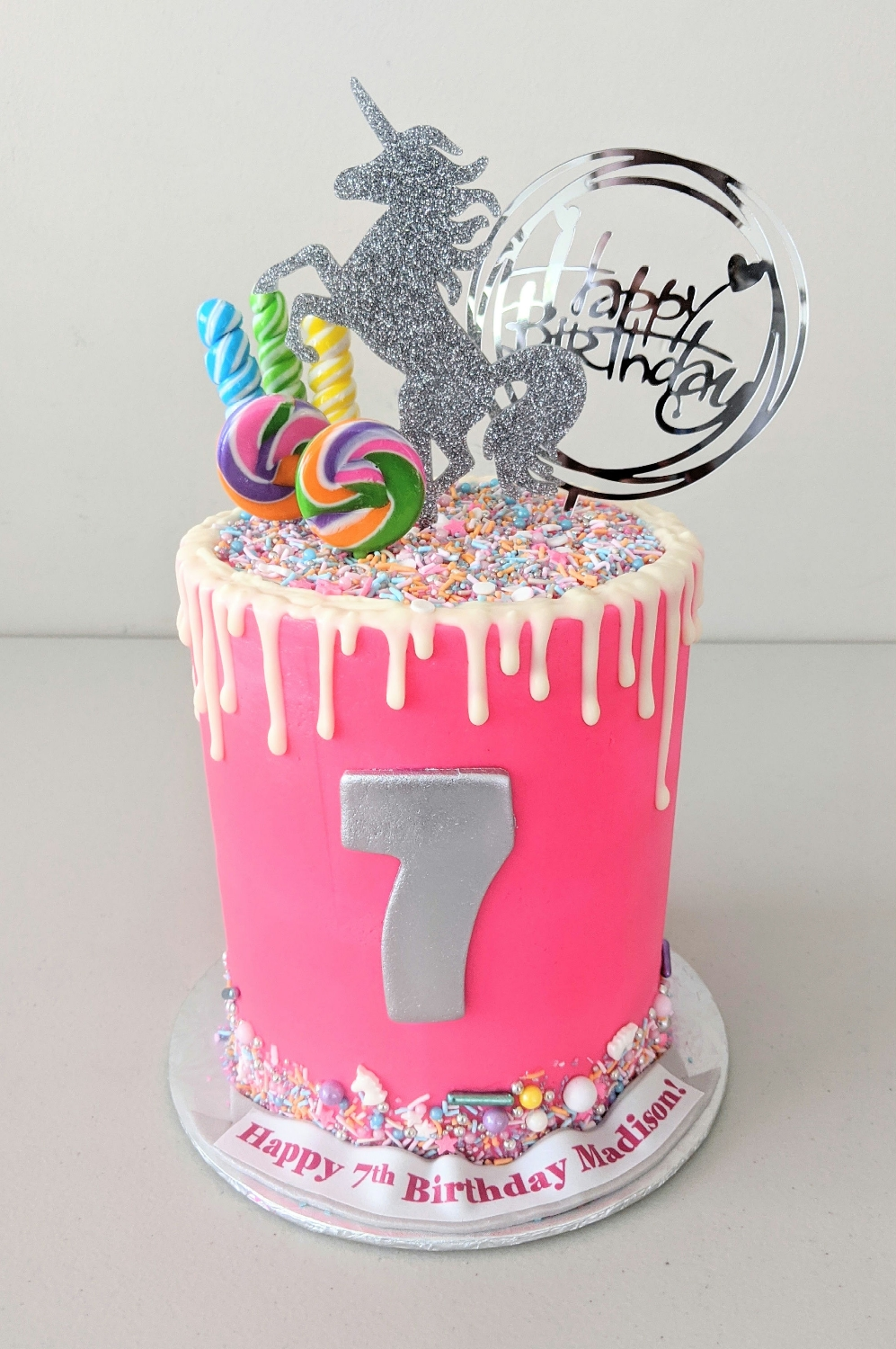 Unicorn Magic and Candy Barrel Cake