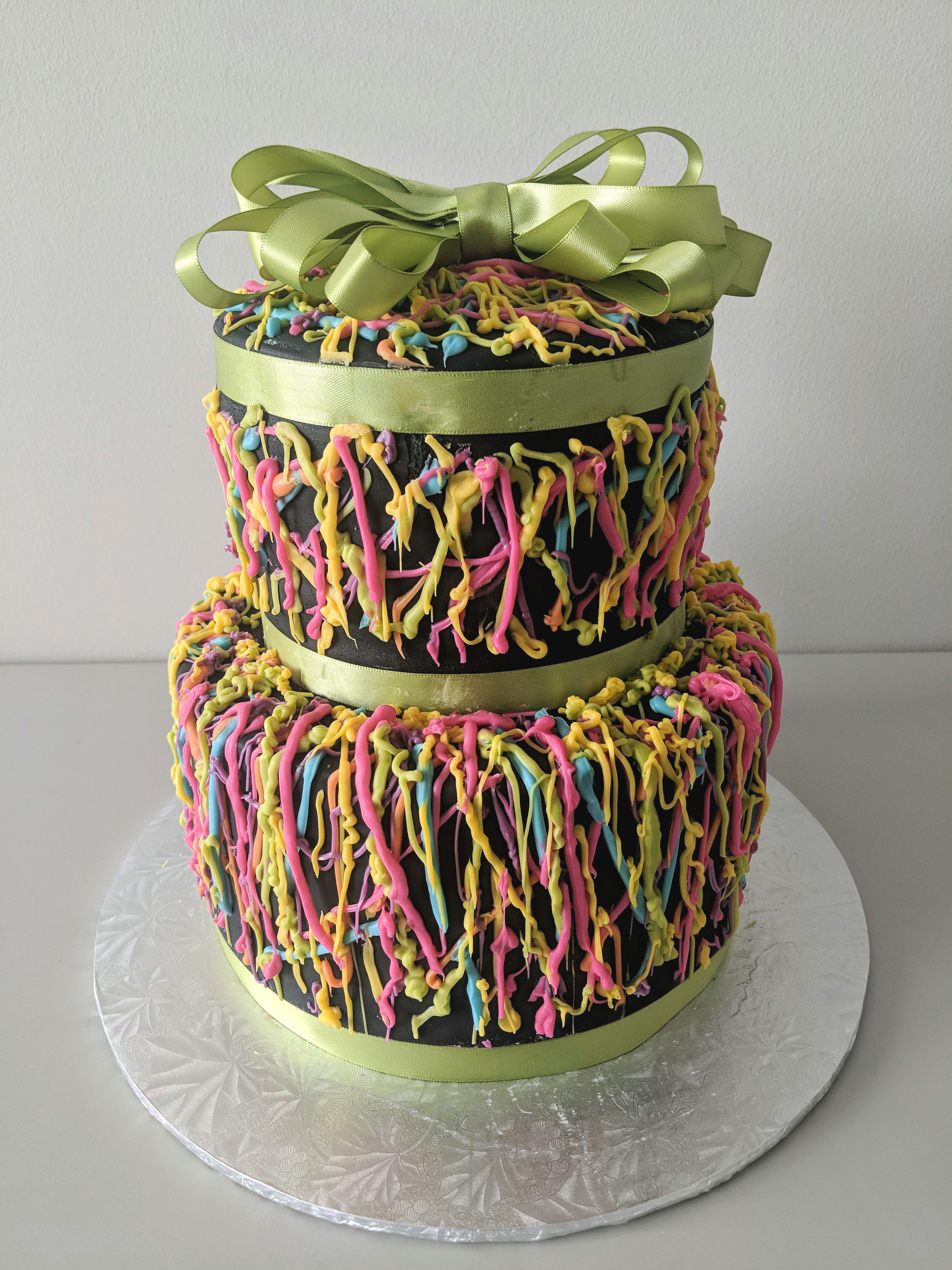 Neon Glow Party Cake