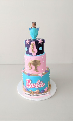 Black Princess Barbie Cake
