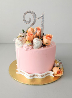 Peach, Rose Gold, and Elegance Cake