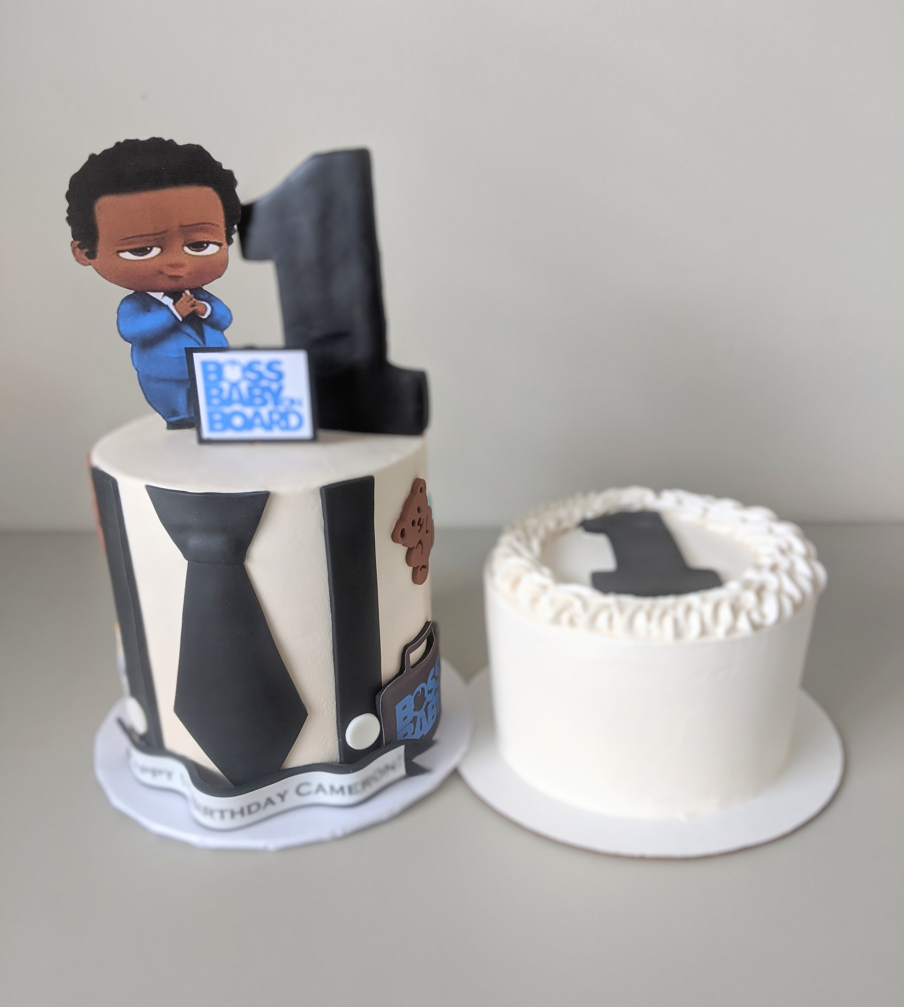Boss Baby Birthday Cake and Smash Cake