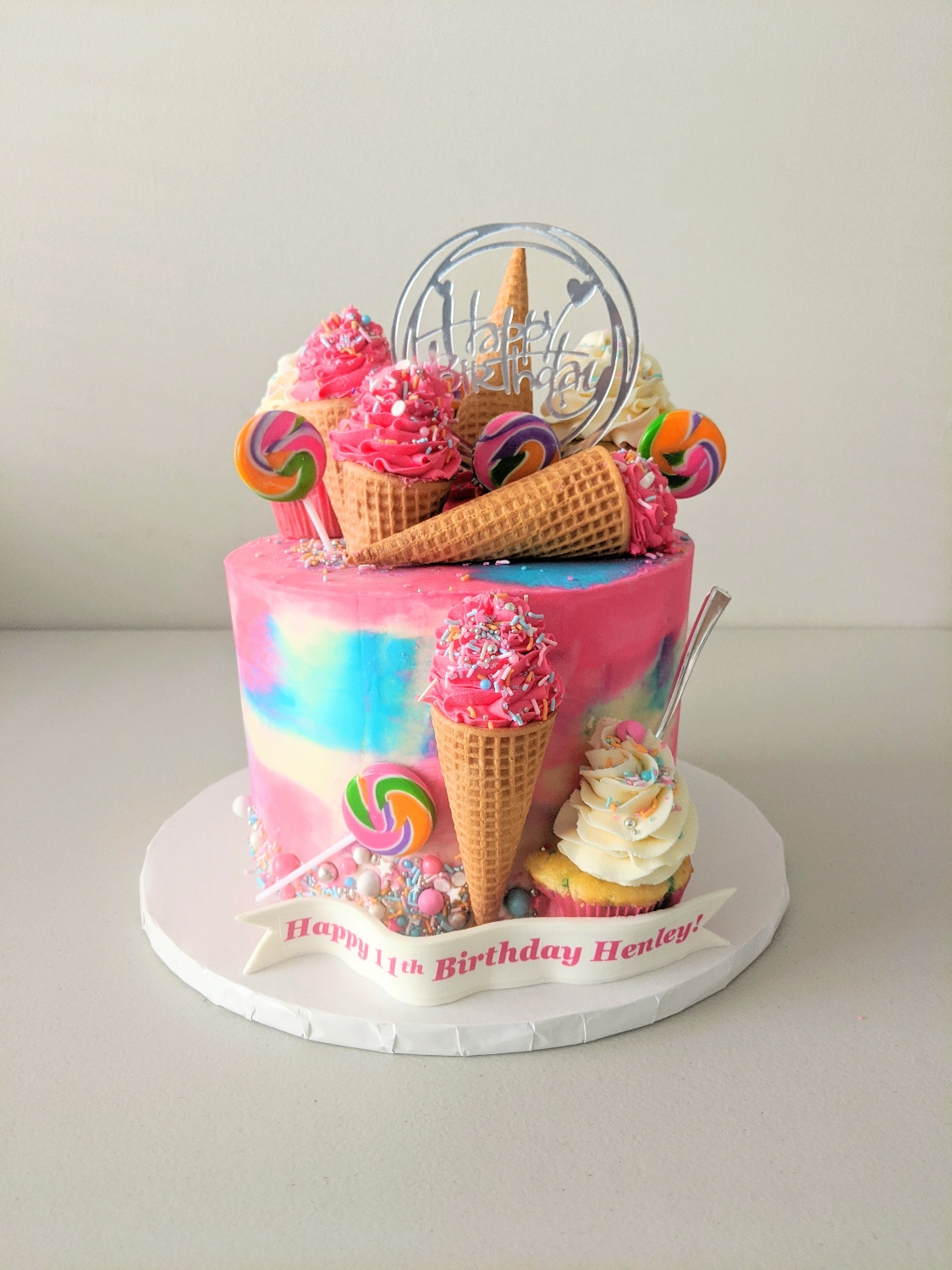 Ice Cream and Candy Birthday Cake