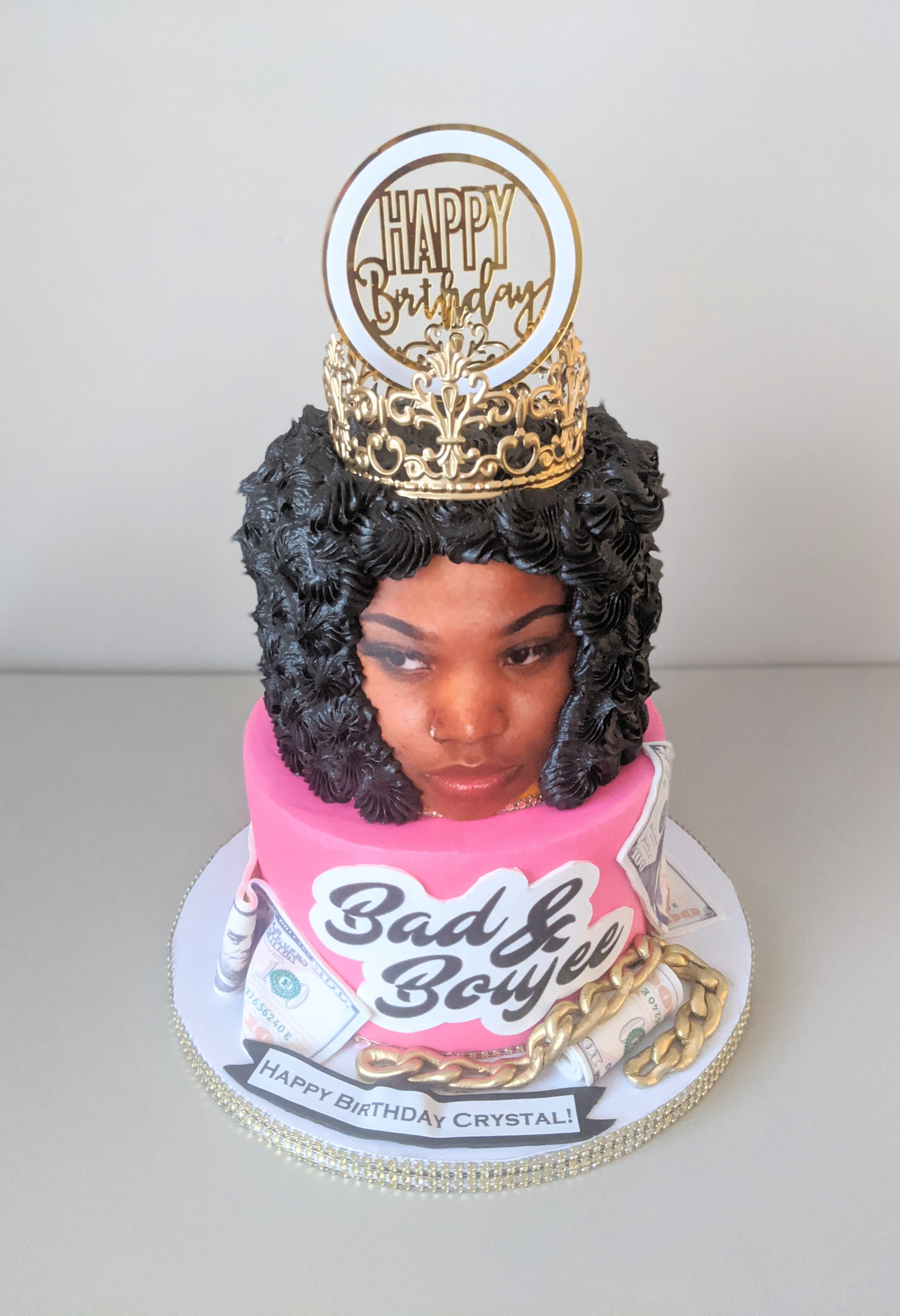 Bad and Boujee Birthday Cake