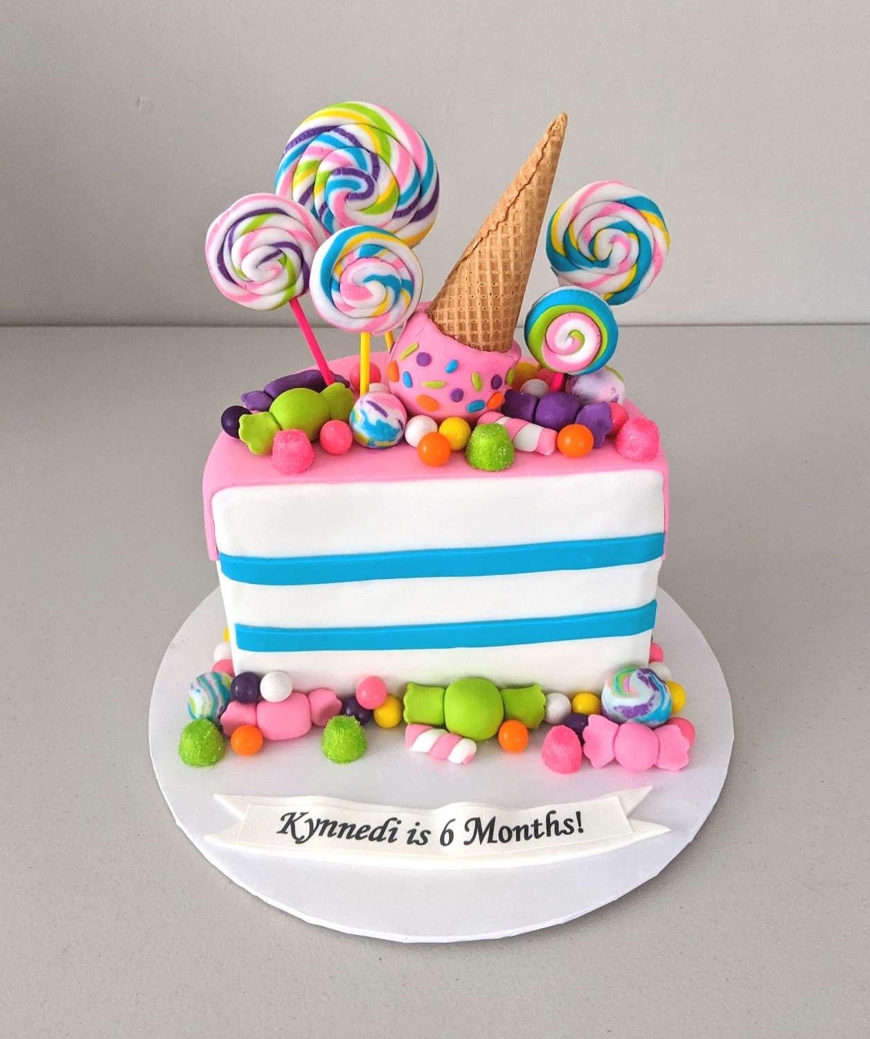 Candy Land Half Birthday Cake