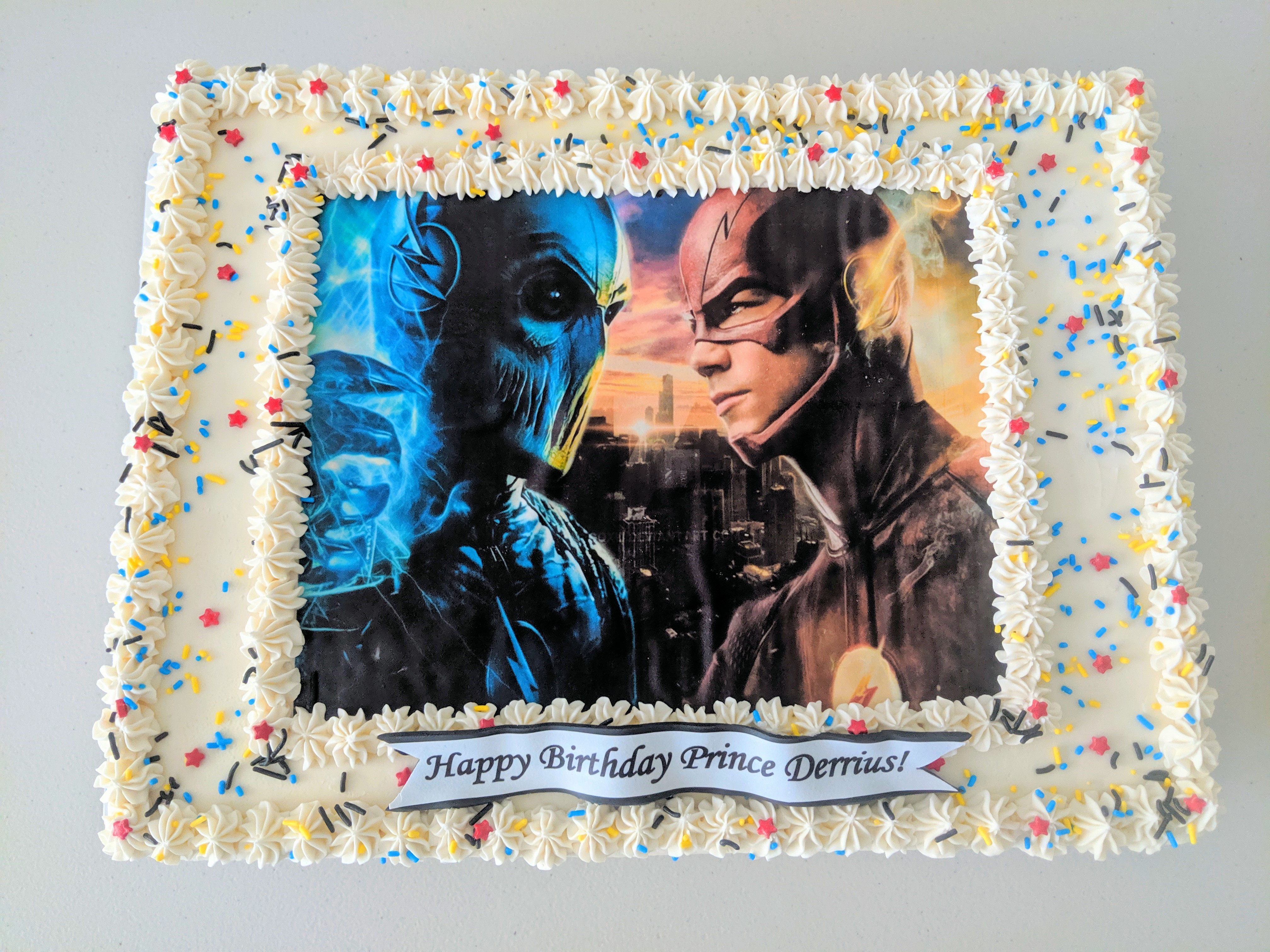Flash vs. Villain Cake