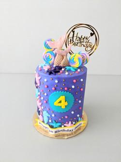 Princess Mermaid Barrel Cake
