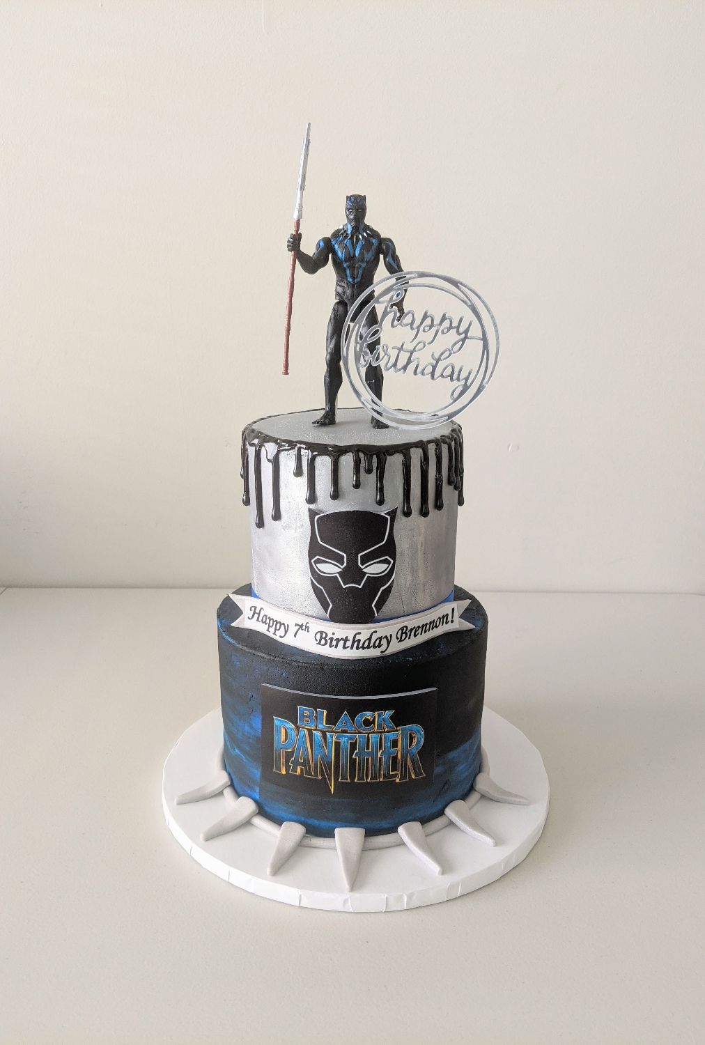 Black Panther Birthday Cake